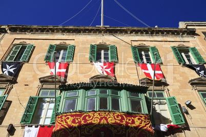 Facade in Valletta, Malta