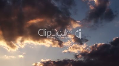 Epic Clouds At Sunset HD Video
