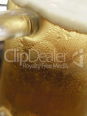 Close up of  beer mug