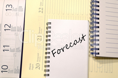 Forecast write on notebook
