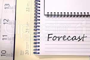 Forecast write on notebook