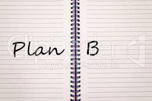 Plan b write on notebook