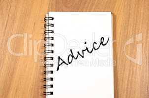 Advice write on notebook