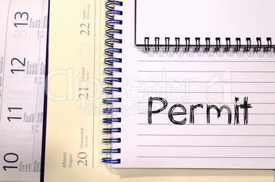 Permit write on notebook