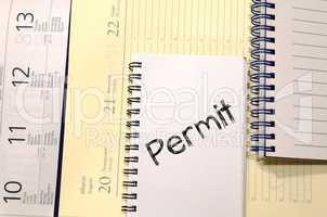 Permit write on notebook