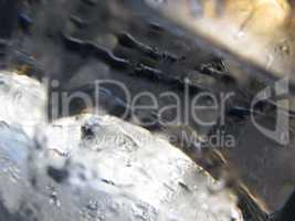 Abstract glass background - Water condensation on the cold  glas