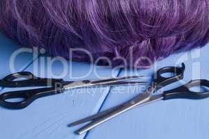 hairdressing different scissors