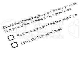 Brexit referendum in UK