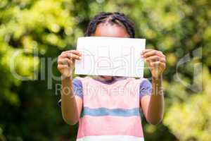 Boy holding a poster with help