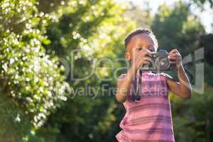 Child is using camera