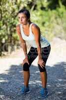 Woman take a break during sport