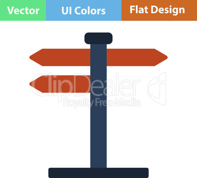 Flat design icon of pointer stand