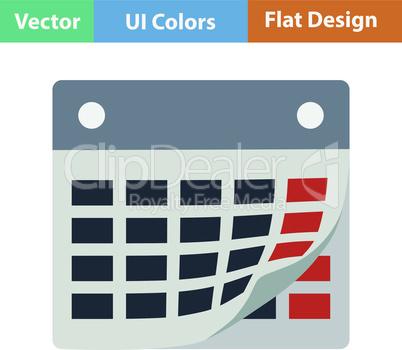 Flat design icon of calendar