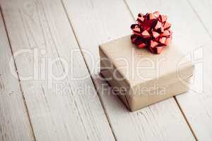Overhead view of a present