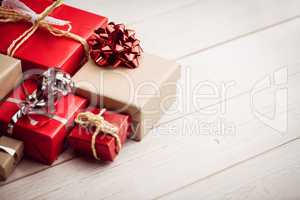 High angle view of presents