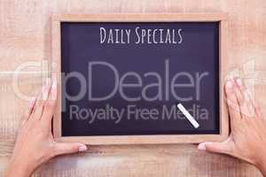 Composite image of daily specials message