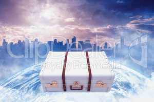 Composite image of suitcase