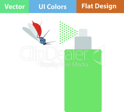 Flat design icon of mosquito spray