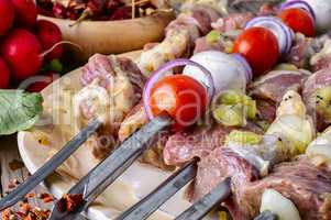Juicy meat for barbecue