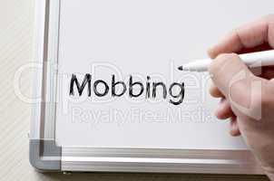 Mobbing written on whiteboard