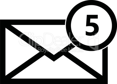 Email symbol letter icon - vector.
