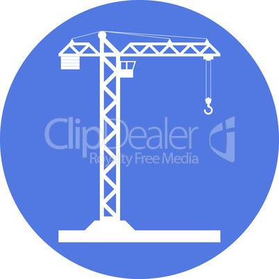 Building Tower crane icon - vector.