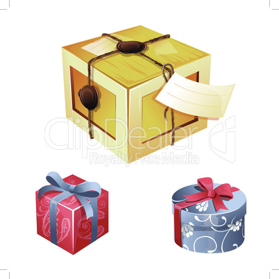 Gift Box vector illustration on a white background