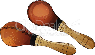 Maracas vector illustration on a white background