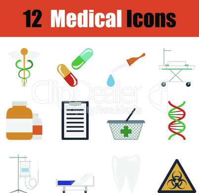 Flat design medical icon set