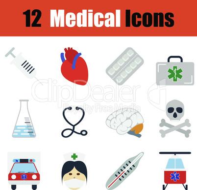 Flat design medical icon set