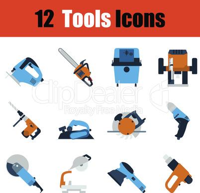 Flat design tools icon set