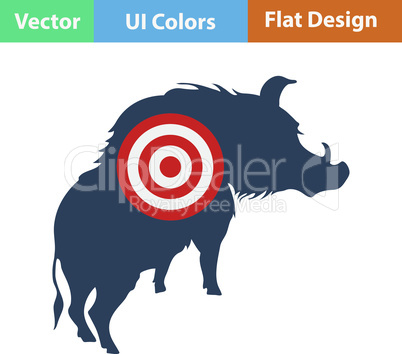 Icon of boar silhouette with target