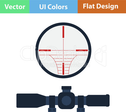 Flat design icon of scope