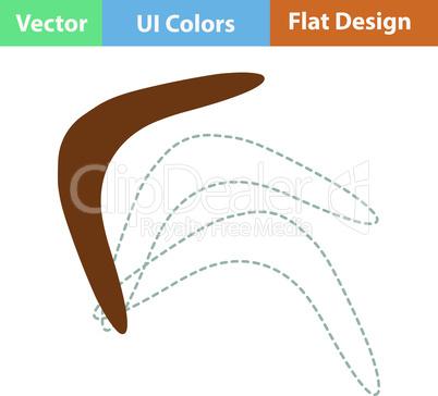 Flat design icon of boomerang