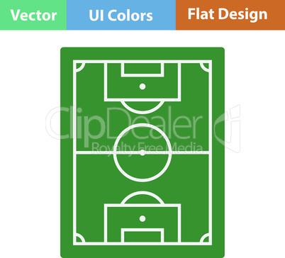 Flat design icon of football field