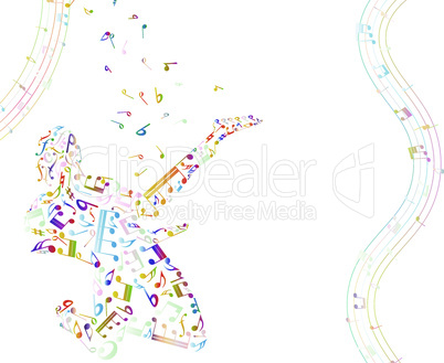 Musical background with guitarist