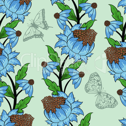 Seamless floral ornate  pattern