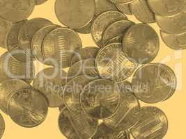 Dollar coin 1 cent wheat penny cent - vintage