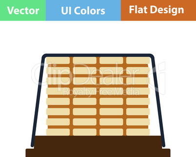 Flat design icon of construction pallet