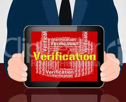 Verification Lock Indicates Guaranteed Authentic And Authenticit