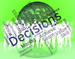 Decision Words Indicates Choice Choices And Deciding