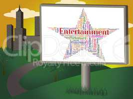 Entertainment Star Indicates Motion Picture And Celebration