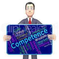 Competence Words Shows Adeptness Capacity And Expertness