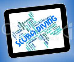 Scuba Diving Represents Marine Text And Scubadiving