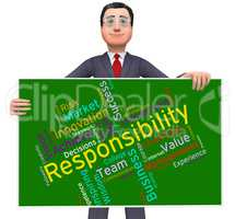 Responsibility Words Shows Management Obliged And Responsible