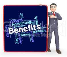 Benefits Word Shows Pay Text And Perk
