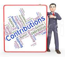 Contributions Word Represents Contribute Contributes And Donatin