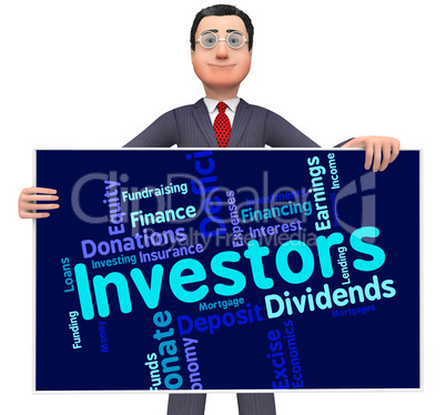 Investors Word Means Return On Investment And Growth