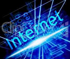 Internet Word Shows World Wide Web And Www