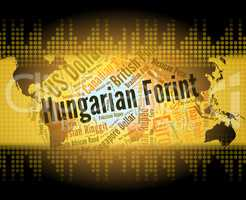 Hungarian Forint Shows Foreign Exchange And Broker